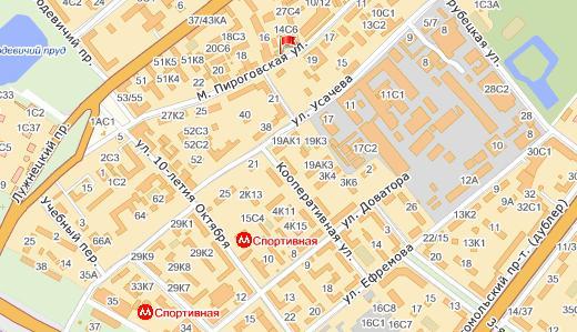 Где находится спортивная улица