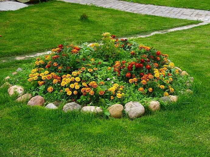 Фото клумб и цветников своими руками